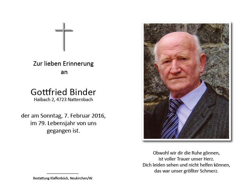 Gottfried  Binder