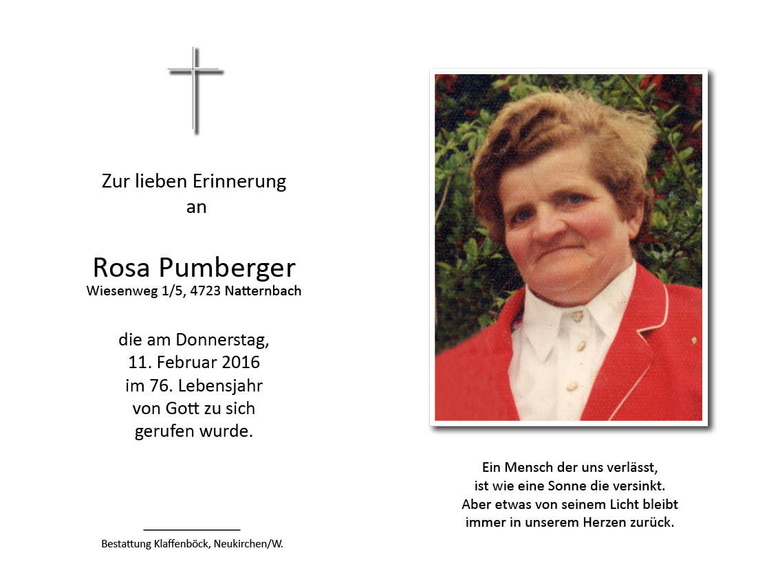 Rosa  Pumberger