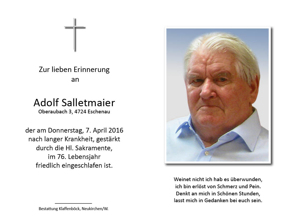 Adolf  Salletmaier