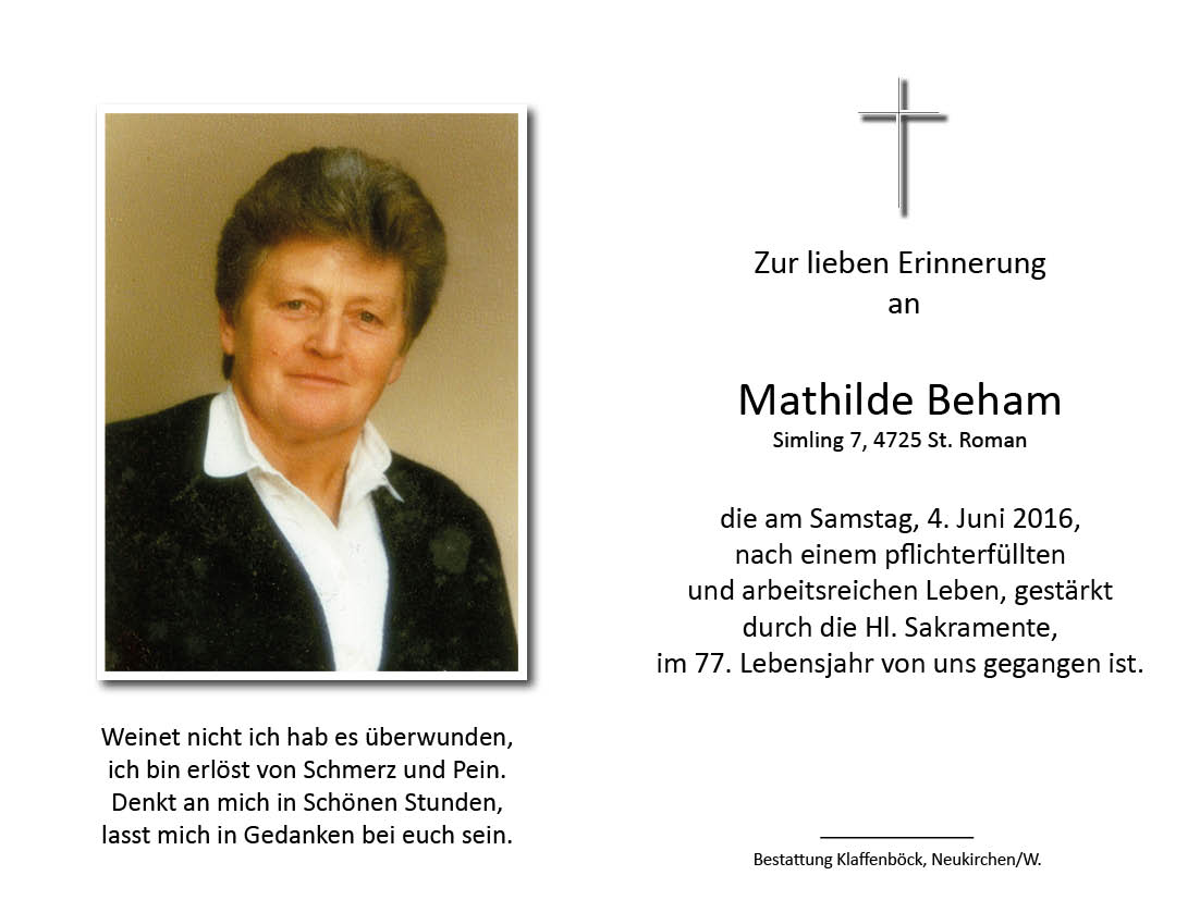 Mathilde  Beham