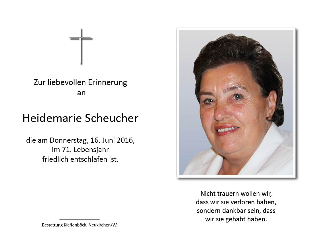 Heidemarie  Scheucher