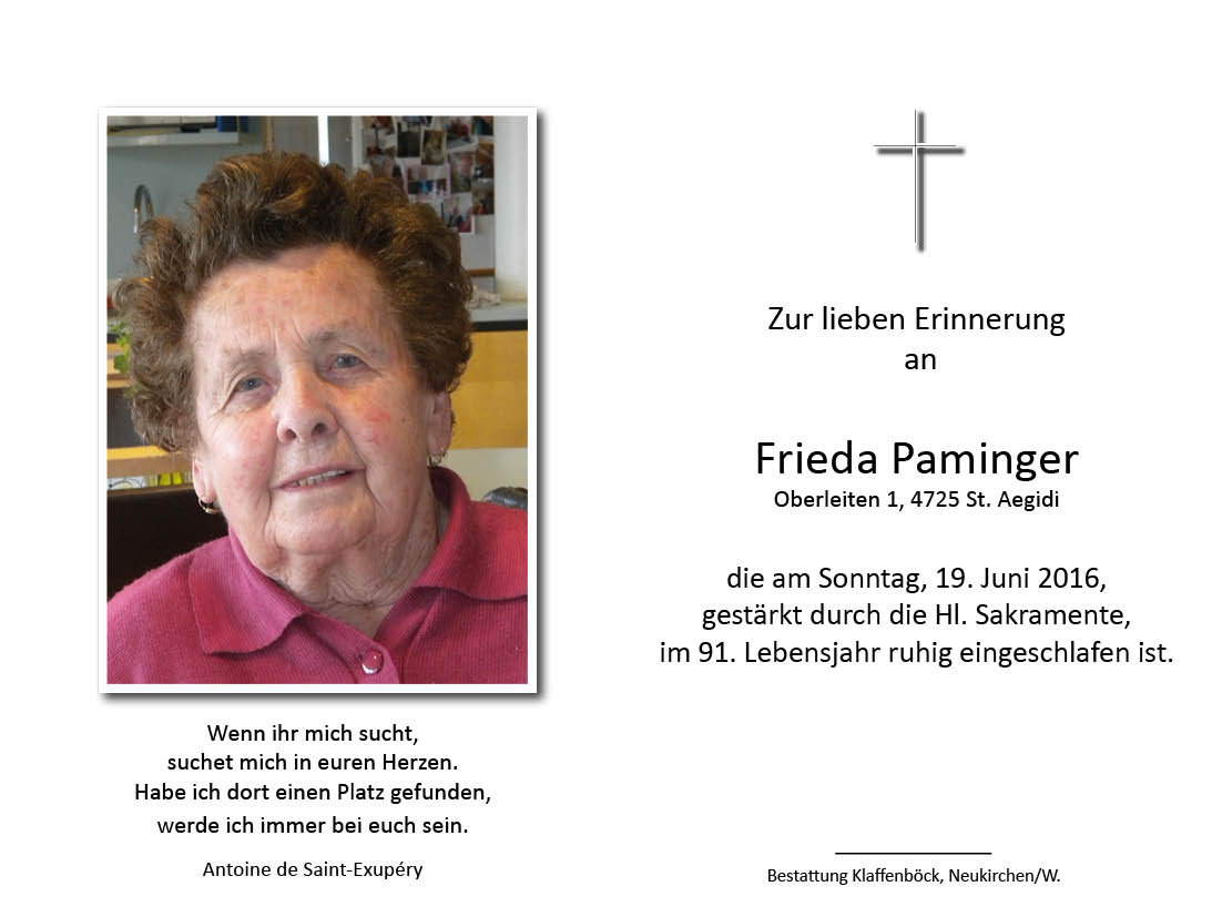 Frieda  Paminger