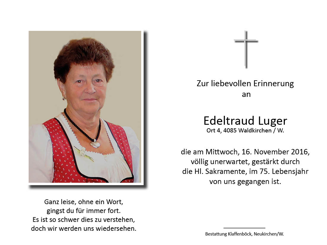 Edeltraud  Luger