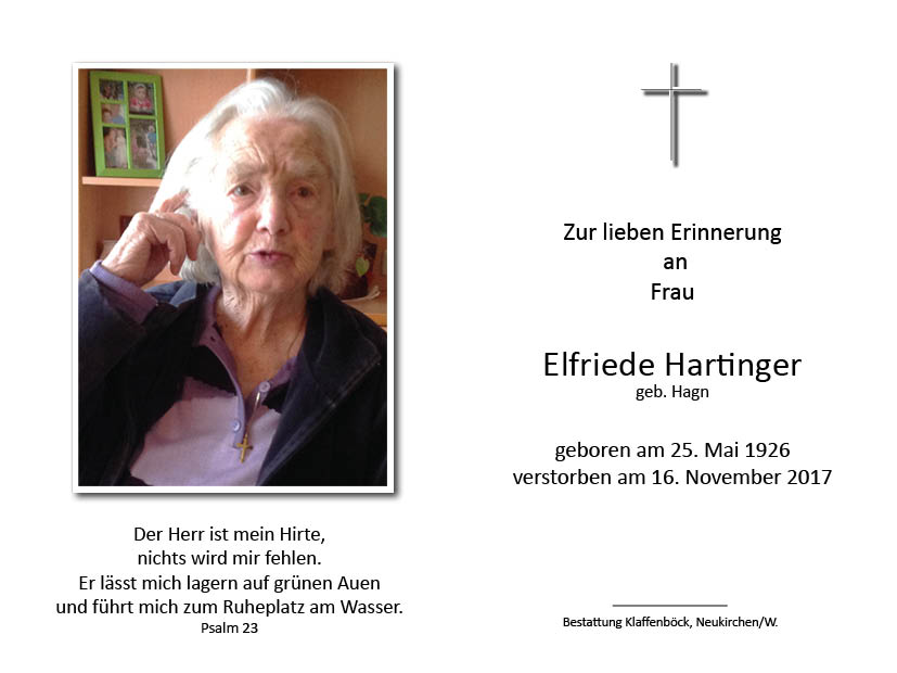 Elfriede  Hartinger