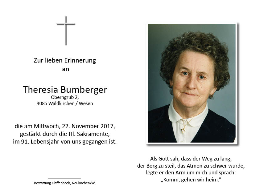 Theresia  Bumberger