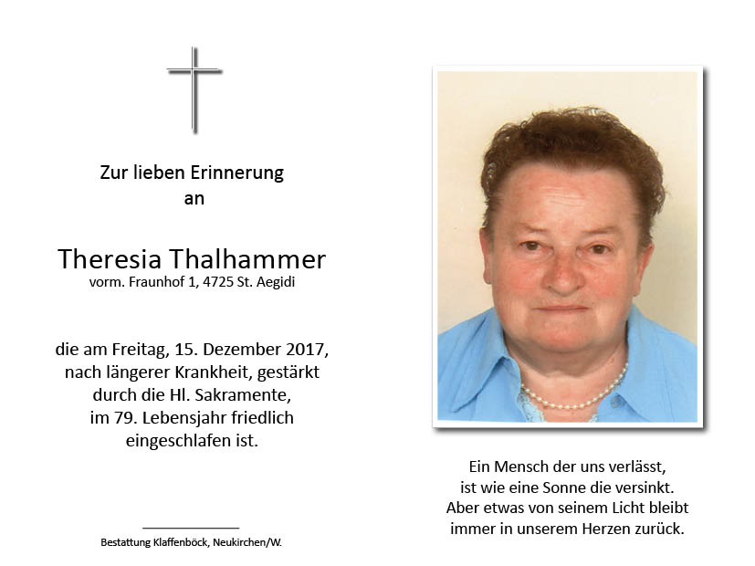 Theresia  Thalhammer
