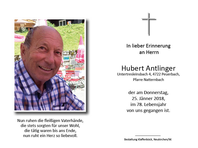 Hubert  Antlinger senior