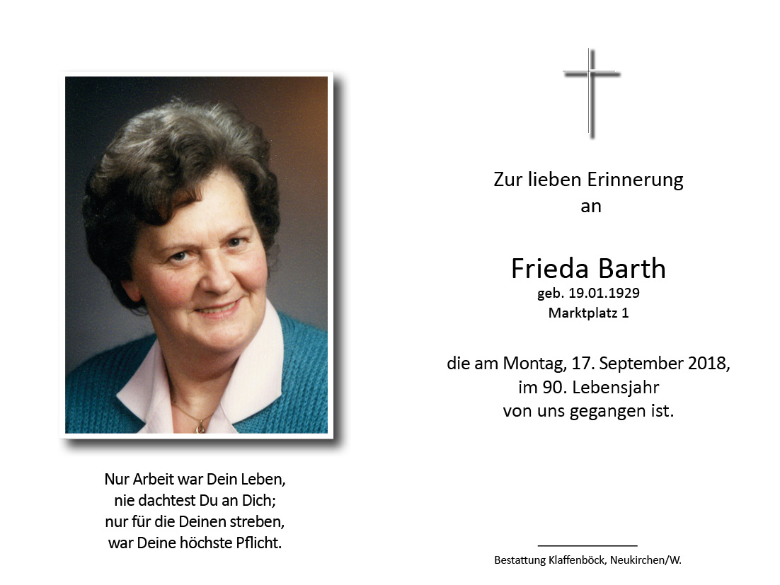 Frieda  Barth