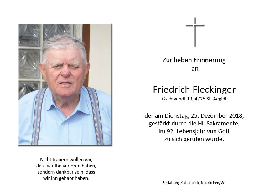 Friedrich  Fleckinger