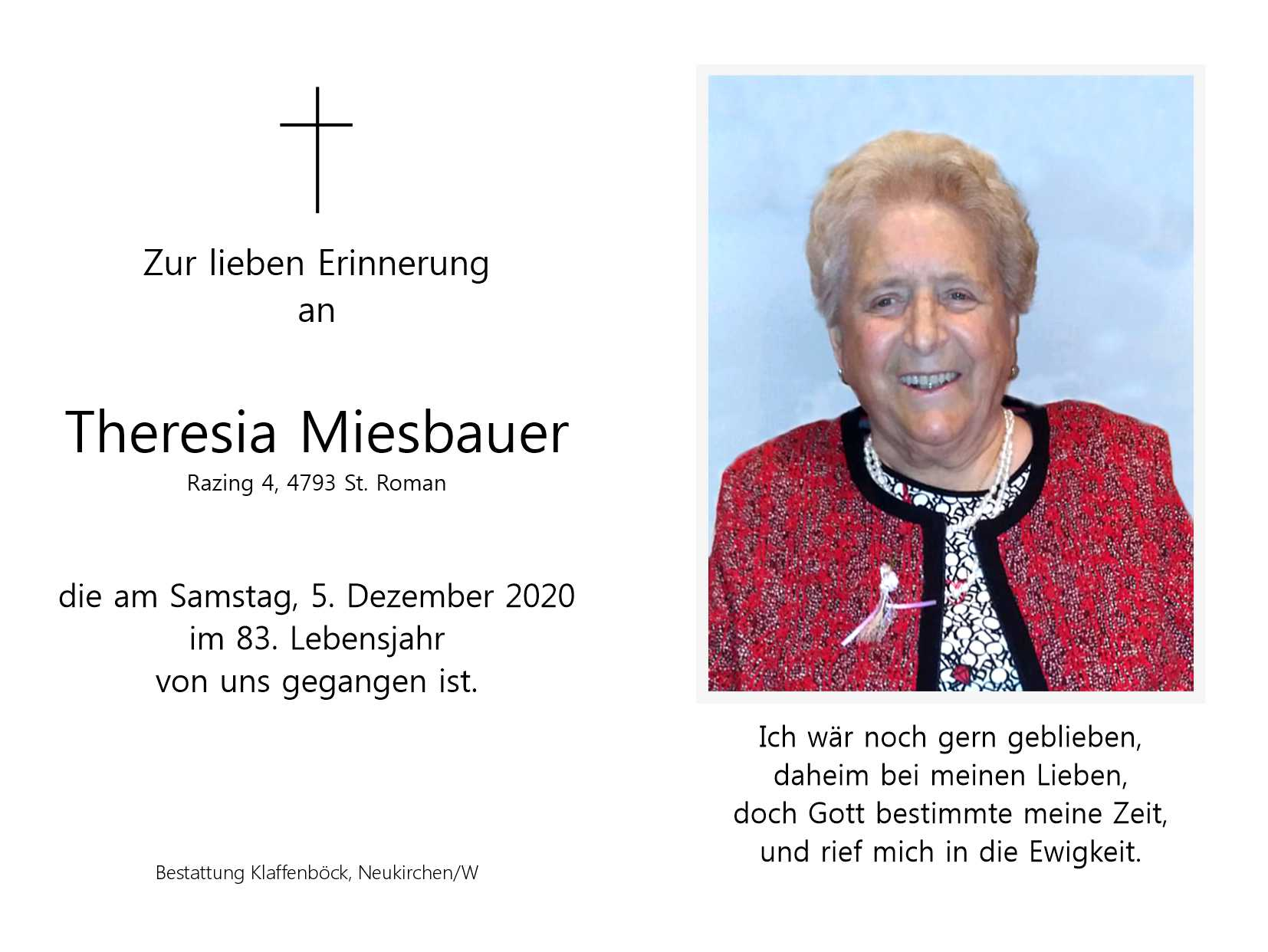 Theresia  Miesbauer